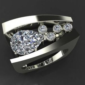 Jewelry - 14k white gold plated ring NWT